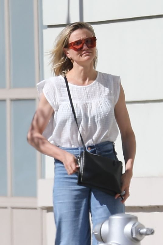 CAMERON DIAZ Out in Los Angeles 04/18/2019