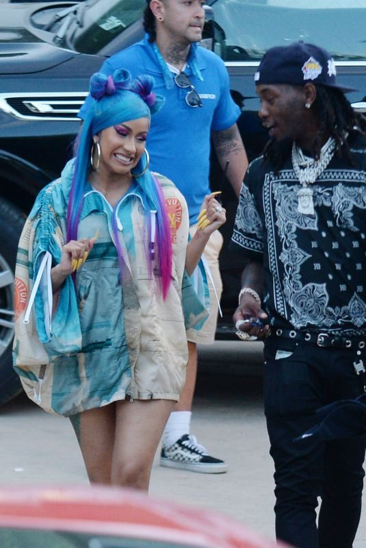 CARDI B and Offset Arrives at Revolve Party at Coachella Festival 04/14/2019