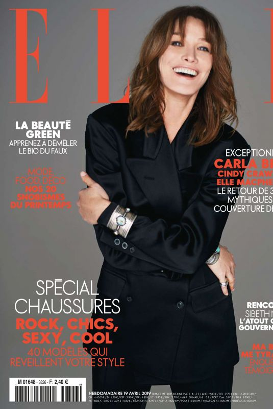 CARLA BRUNI in Elle Magazinhe, France April 2019