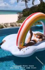 CAROLINE WOZNIACKI in Bikini at a Pool - Instagram Pictures and Video 04/14/2019