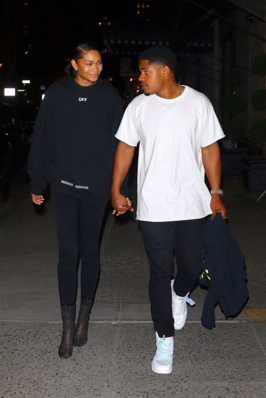 CHANEL IMAN and Sterling Shepard at L'Avenue Restaurant