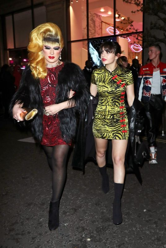 CHARLI XCX and JODIE HARSH Leaves Technicolour Odyssey Campaign Launch Party 04/04/2019