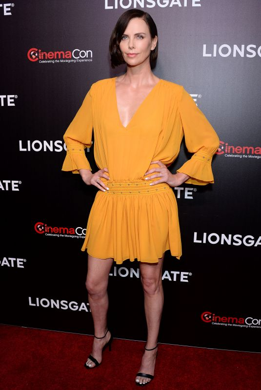 CHARLIZE THERON at Long Shot Screening at Cinemacon in Las Vegas 04/04/2019