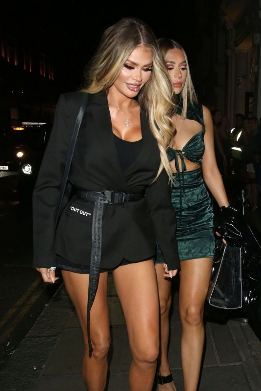 CHLOE and DEMI SIMS at Nobu Restaurant in London 04/20/2019