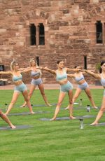 CHRISTINE MCGUINESS, CALLY JANE BEECH, SARAH JAYNE DUNN and Others at Yoga Session at Peckforton Castle in Cheshire 04/23/2019