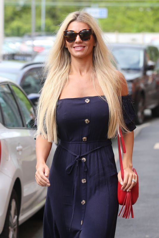 CHRISTINE MCGUINNESS Out in Alderley Edge in Cheshire 04/25/2019