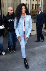 CIARA in Double Denim Out in New York 04/04/2019
