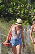 CLAUDIA SAMPEDRO in Bikini at a Beach in Miami 04/07/2019