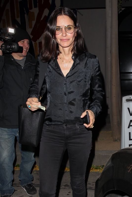 COURTENEY COX at Craig's in West Hollywood 04/10/2019