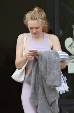 DAKOTA FANNING in Tights Leaves a Gym in Los Angeles 04/03/2019
