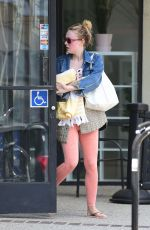 DAKOTA FANNING Leaves a Gym in Los Angeles 04/02/2019
