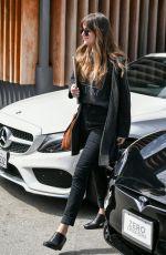 DAKOTA JOHNSON Leaves Meche Salon in Los Angeles 04/04/2019