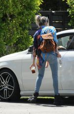 DANI THORNE Arrives at Her Home in Los Angeles 04/21/2019