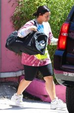 DEMI LOVATO Leaves a Gym in Los Angeles 04/17/2019