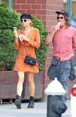 DIANE KRUGER and Norman Reedus Out for Ice Cream in New York 04/24/2019