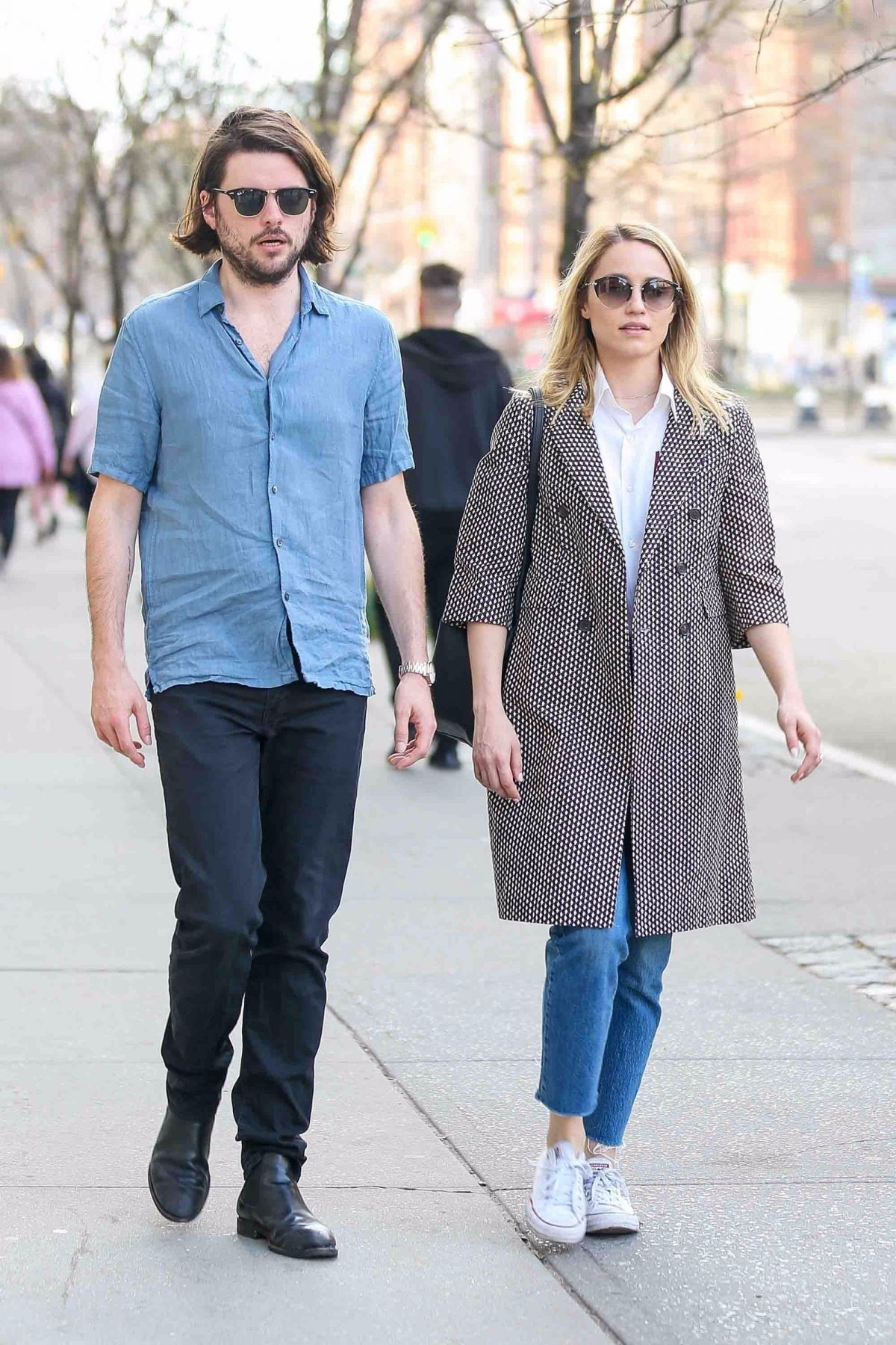 DIANNA AGRON and Winston Marshall Out in New York 04/08 ...