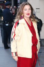 DREW BARRYMORE Arrives at Good Morning America in New York 04/01/2019