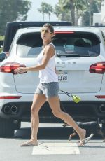 ELISABETTA CANALIS Out with Her Dog in West Hollywood 04/03/2019