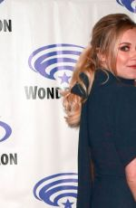 ELIZA TAYLOR at The 100 Press Line at WonderCon in Anaheim 03/31/2019