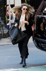 ELIZABETH OLSEN Out and About in New York 04/10/2019