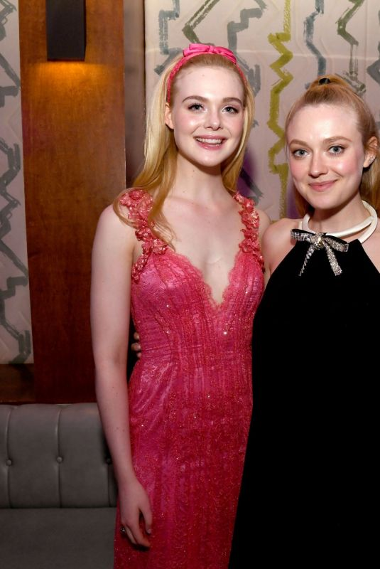ELLE and DAKOTA FANNING at Teen Spirit Premiere Party in Hollywood 04/02/2019