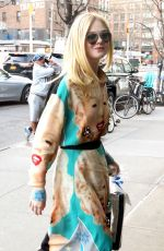 ELLE FANNING Arrives at Bowery Hotel in New York 04/04/2019