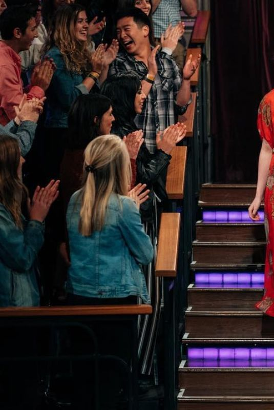 ELLE FANNING at Late Late Show with James Corden in Los Angeles 04/16/2019