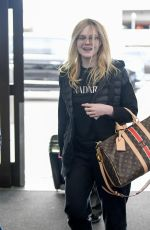 ELLE FANNING at Los Angeles International Airport 04/03/2019