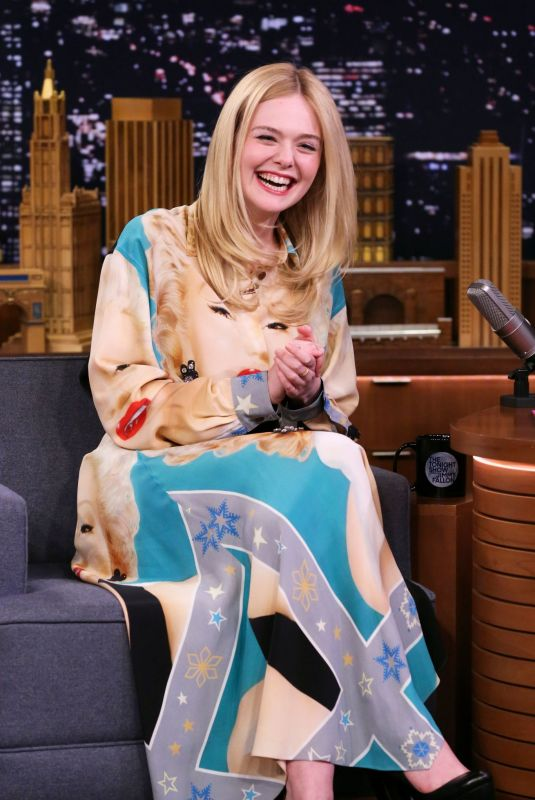 ELLE FANNING at Tonight Show Starring Jimmy Fallon in New York 04/04/2019