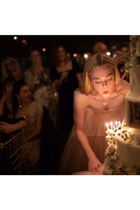 ELLE FANNING Celebrates Her Birthday - Instagram Pictures, April 2019