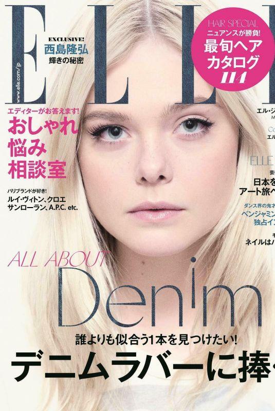 ELLE FANNING in Elle Magazine, Japan May 2019