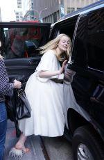 ELLE FANNING Leaves SiriusXM Studios in New York 04/04/2019