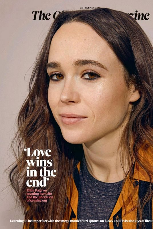 ELLEN PAGE for The Observer Magazine, UK January 2019