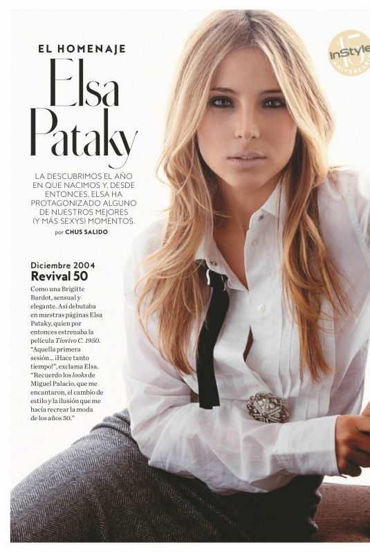 ELSA PATAKY in Instyle Magazine, Spain May 2019