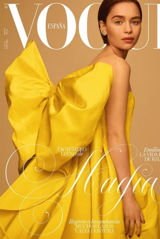 EMILIA CLAREK on the Cover of Vogue Magazine, Spain May 2019