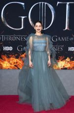 EMILIA CLARKE at Game of Thrones, Season 8 Premiere in New York 04/03/2019