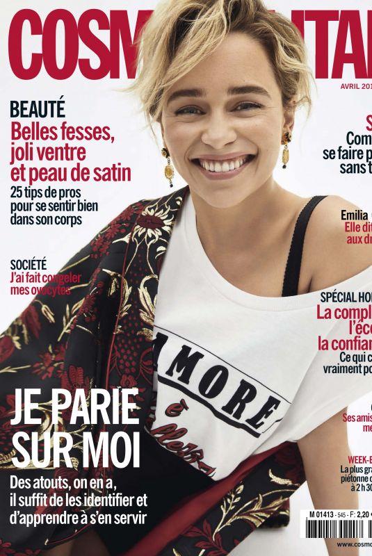 EMILIA CLARKE in Cosmopolitan Magazine, France May 2019