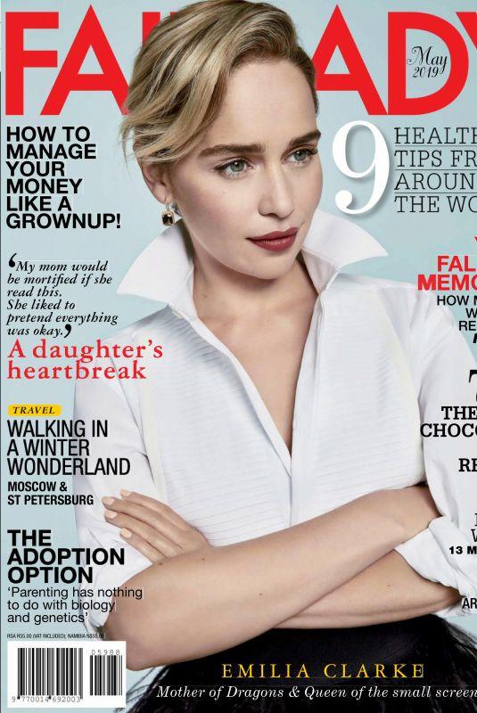 EMILIA CLARKE in Fairlady Magazine, May 2019