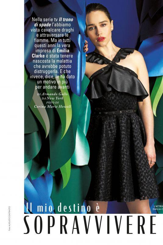 EMILIA CLARKE in Grazia Magazine, Italy April 2019