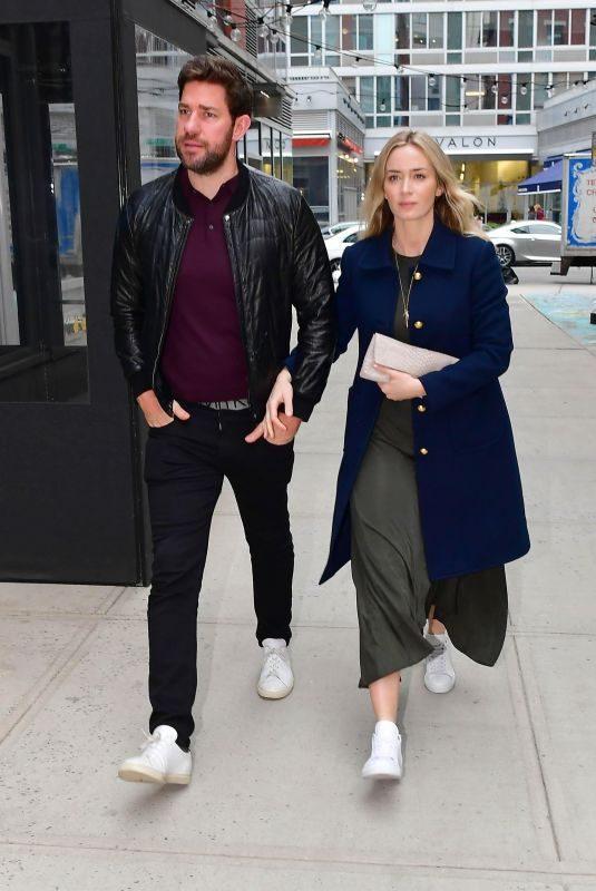EMILY BLUNT and John Krasinski Out for Dinner in New York 04/11/2019