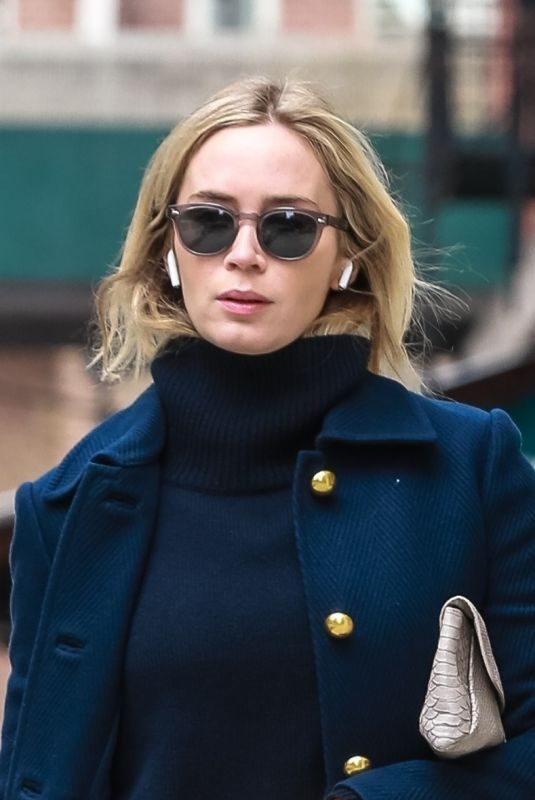 EMILY BLUNT Out and About in New York 04/12/2019