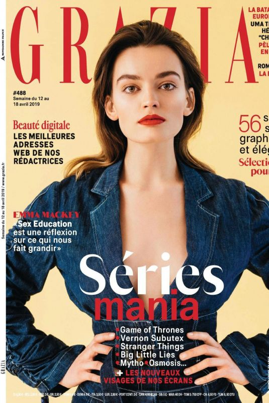 EMMA MACKEY in Grazia Magazine, France April 2019
