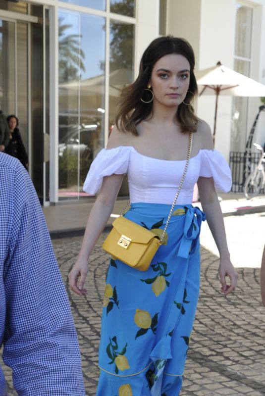 EMMA MACKEY Out and About in Cannes 04/08/2019