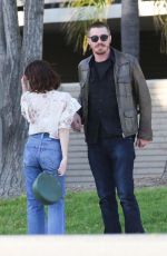 EMMA ROBERTS and Garrett Hedlund Out in Los Angeles 04/13/2019
