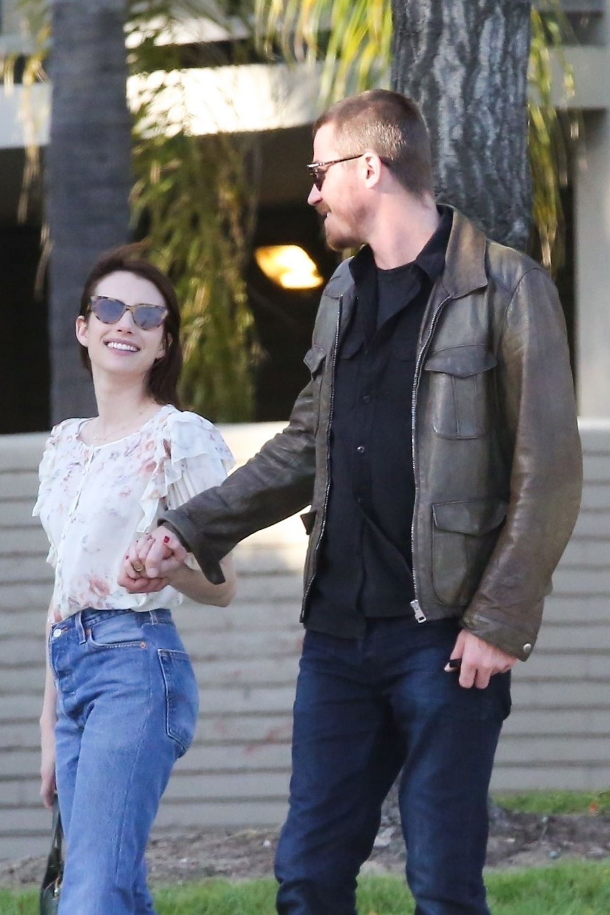 EMMA ROBERTS and Garrett Hedlund Out in Los Angeles 04/13