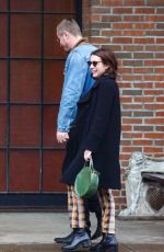 EMMA ROBERTS and Garrett Hedlund Out in New York 03/31/2019