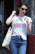 EMMA ROBERTS Out and About in Los Angeles 04/09/2019