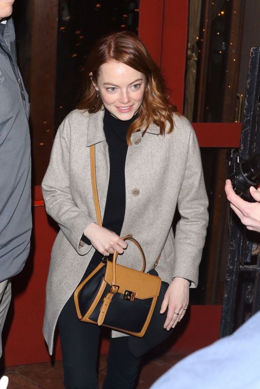 EMMA STONE Arrives at NBC Studio in New York 04/09/2019