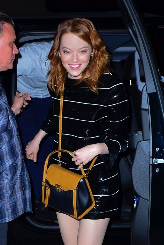 EMMA STONE Arrives at SNL After-party in New York 04/13/2019