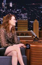 EMMA STONE at Tonight Show Starring Jimmy Fallon in New York 04/11/2019